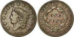 Us Coins - Coin, United States, Coronet Cent, 1833, Philadelphia,