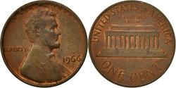 Us Coins - United States, Lincoln Cent, Cent, 1966, U.S. Mint, Philadelphia,