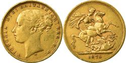 World Coins - Coin, Australia, Victoria, Sovereign, 1875, Melbourne, , Gold, KM:7