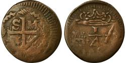World Coins - Coin, Colombia, 1/4 Réal, 1820, Bogota, , Copper, KM:B4