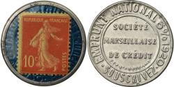 World Coins - Coin, France, Société Marseillaise de Crédit, 10 Centimes, Timbre-Monnaie