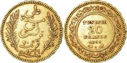 World Coins - Coin, Tunisia, Ali Bey, 20 Francs, 1899, Paris, , Gold, KM:227