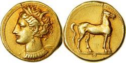 Ancient Coins - Coin, Carthage, Zeugitane, Stater, , Electrum, SNG-Cop:977