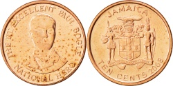 World Coins - JAMAICA, 10 Cents, 2008, British Royal Mint, KM #146.2, , Copper Plated...