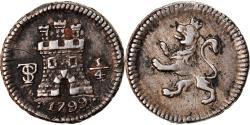 World Coins - Coin, Bolivia, Charles IIII, 1/4 Réal, 1799, Potosi, , Silver, KM:82