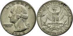 Us Coins - Coin, United States, Washington Quarter, Quarter, 1968, U.S. Mint, Philadelphia