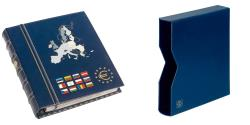 World Coins - Album, Blue, with 6 pages, with slipcase, Leuchtturm:341041