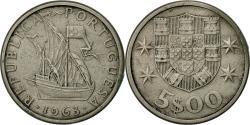 World Coins - Portugal, 5 Escudos, 1963, , Copper-nickel, KM:591