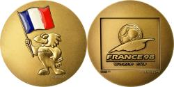 World Coins - France, Medal, France 98, Coupe du Monde de Football, MDP, MS(65-70), Bronze