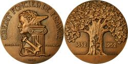 World Coins - France, Medal, Banque, Crédit Foncier de France, 1952, Baron, , Bronze