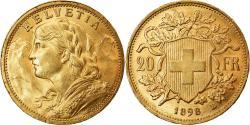 World Coins - Coin, Switzerland, 20 Francs, 1898, Bern, , Gold, KM:35.1