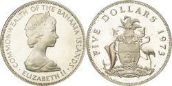 World Coins - Coin, Bahamas, Elizabeth II, 5 Dollars, 1973, Franklin Mint, U.S.A.,