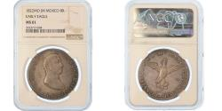 World Coins - Coin, Mexico, Augustin I Iturbide, 8 Reales, 1822, Mexico City, NGC, MS61