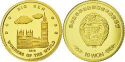 World Coins - United Kingdom , Medal, Big Ben, 10 Won, 2010, , Gold