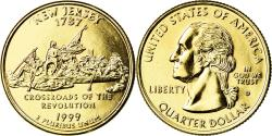 Us Coins - Coin, United States, New Jersey, Quarter, 1999, U.S. Mint, Denver, gold-plated
