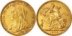 World Coins - Coin, Australia, Victoria, Sovereign, 1896, Melbourne, , Gold, KM:13
