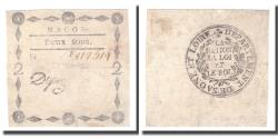 World Coins - France, 2 Sous, Undated (1791-92), MACON, EF(40-45)