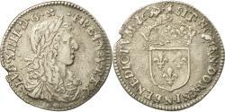 Ancient Coins - Coin, France, Louis XIV, 1/12 Écu au buste juvénile, 1/12 ECU, 10 Sols, 1660