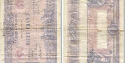 World Coins - France, 1000 Francs, Bleu et Rose, 1889, 1917-04-12, F(12-15), Fay:36.31 KM:67g