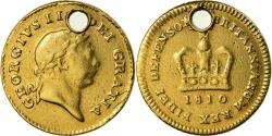 Ancient Coins - Coin, Great Britain, George III, 1/3 Guinea, 1810, , Gold, KM:650