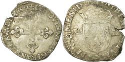 World Coins - Coin, France, Louis XIII, 1/4 Écu à la croix, 1/4 Ecu, 1611, Bordeaux