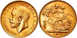 World Coins - Coin, Australia, George V, Sovereign, 1911, Sydney, , Gold, KM:29