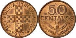 World Coins - Coin, Portugal, 50 Centavos, 1977, , Bronze, KM:596