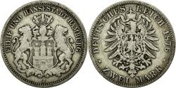 World Coins - Coin, German States, HAMBURG, 2 Mark, 1876, Hambourg, VF(30-35), Silver, KM:604