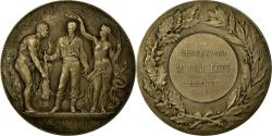 World Coins - France, Medal, Prix de Gymnastique, Offert par René Coty, Borrel.A,