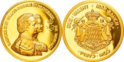 World Coins - Monaco, Medal, Rainier III et Grace, , Gold