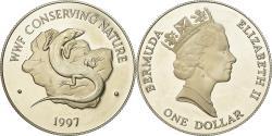 World Coins - Coin, Bermuda, Elizabeth II, Dollar, 1997, British Royal Mint,