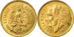 World Coins - Coin, Mexico, 5 Pesos, 1955, Mexico City, , Gold, KM:464