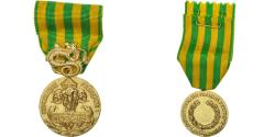 World Coins - France, Campagne d'Indochine, Medal, 1945-1954, Uncirculated, Gilt Bronze, 36.5