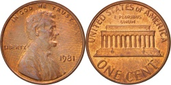 Us Coins - United States, Lincoln Cent, 1981, Philadelphia, , KM:201