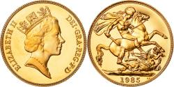 World Coins - Coin, Great Britain, Elizabeth II, 2 Pounds, 1985, , Gold, KM:944