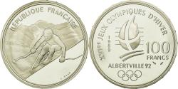 World Coins - Coin, France, Alpine skiing, 100 Francs, 1989, BE, , Silver, KM:971