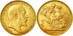 World Coins - Coin, Australia, Edward VII, Sovereign, 1904, Melbourne, , Gold, KM:15
