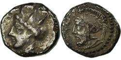 Ancient Coins - Coin, Cilicia, Tarse (378-362 BC), Ares, Obol, Tarsos, AU(50-53), Silver
