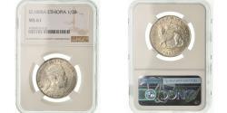 World Coins - Coin, Ethiopia, Menelik II, 1/2 Birr, 1889 (1897), NGC, MS61, Silver, KM:4