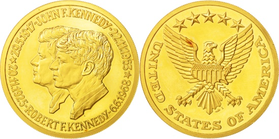 US Coins - United States, Medal, John F. Kennedy and Robert F. Kennedy, 1963-1968