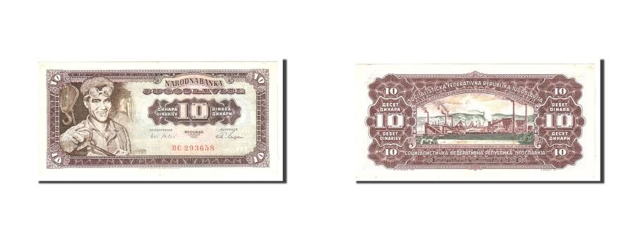 World Coins - Yugoslavia, 10 Dinara, 1965, KM:78a, 1965-08-01, EF(40-45)