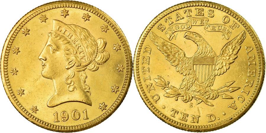 US Coins - Coin, United States, Coronet Head,$10, Eagle,1901,San Francisco,,KM 102