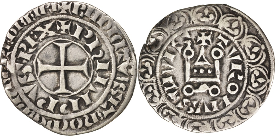 World Coins - France, Philippe IV, Gros Tournois, , Silver, Duplessy:213
