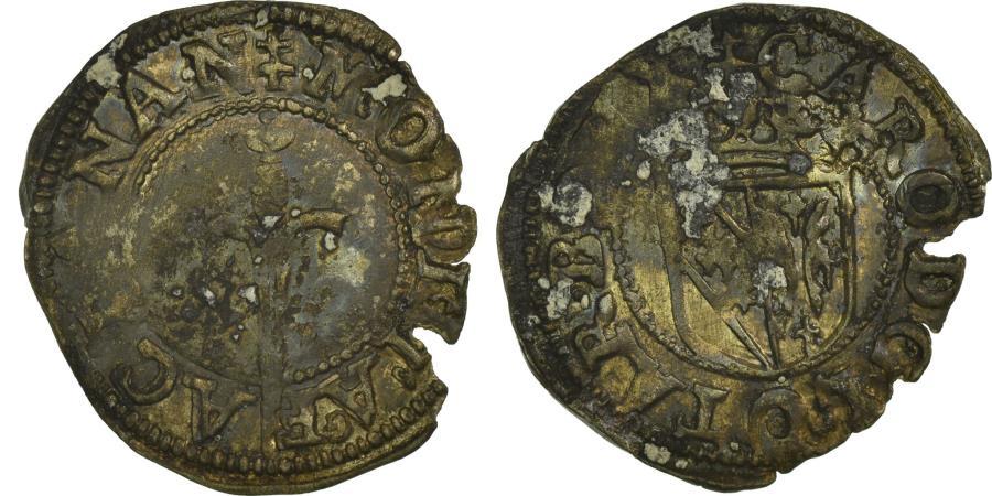 World Coins - Coin, France, Double Denarius, EF(40-45), Silver, Boudeau:1538