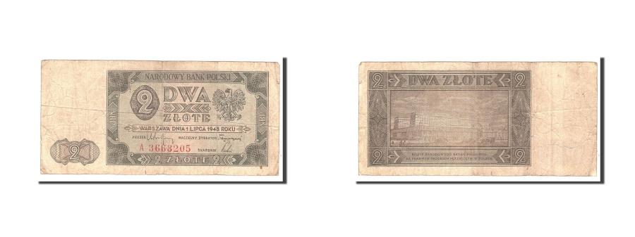 World Coins - Poland, 2 Zlote, 1948, 1948-07-01, KM:134, VF(20-25), A3663205