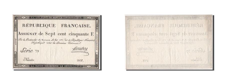 World Coins - France, 750 Francs, 1795, KM:A79, 7.1.1795, AU, Lafaurie:174