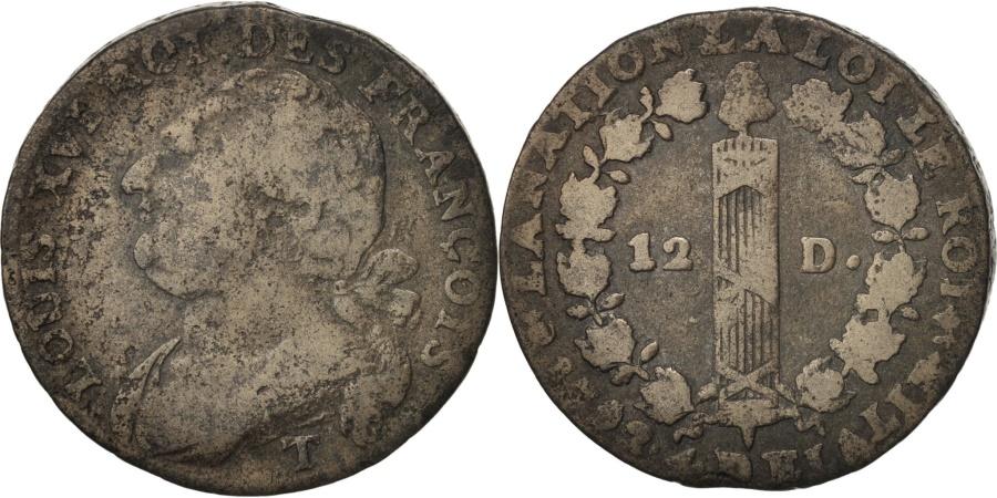 World Coins - France, 12 deniers françois, Nantes, 1792, , Bronze, KM:600.15