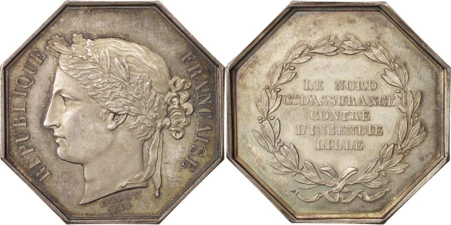 World Coins - France, Medal, Insurance, Le Nord, Compagnie d'assurance contre l'incendie