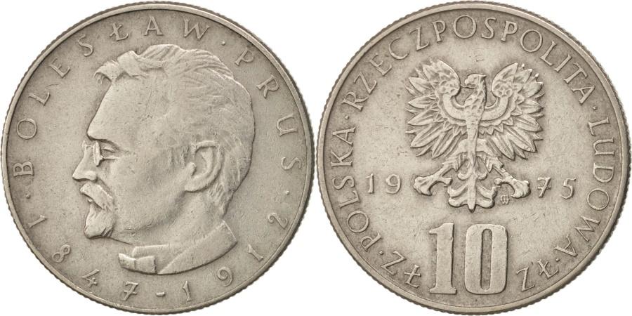 World Coins - Poland, 10 Zlotych, 1975, Warsaw, , Copper-nickel, KM:73