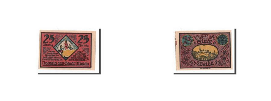 World Coins - Germany, Weida, 25 Pfennig, eglise, 1921-09-30, UNC(65-70), Mehl:1391.2